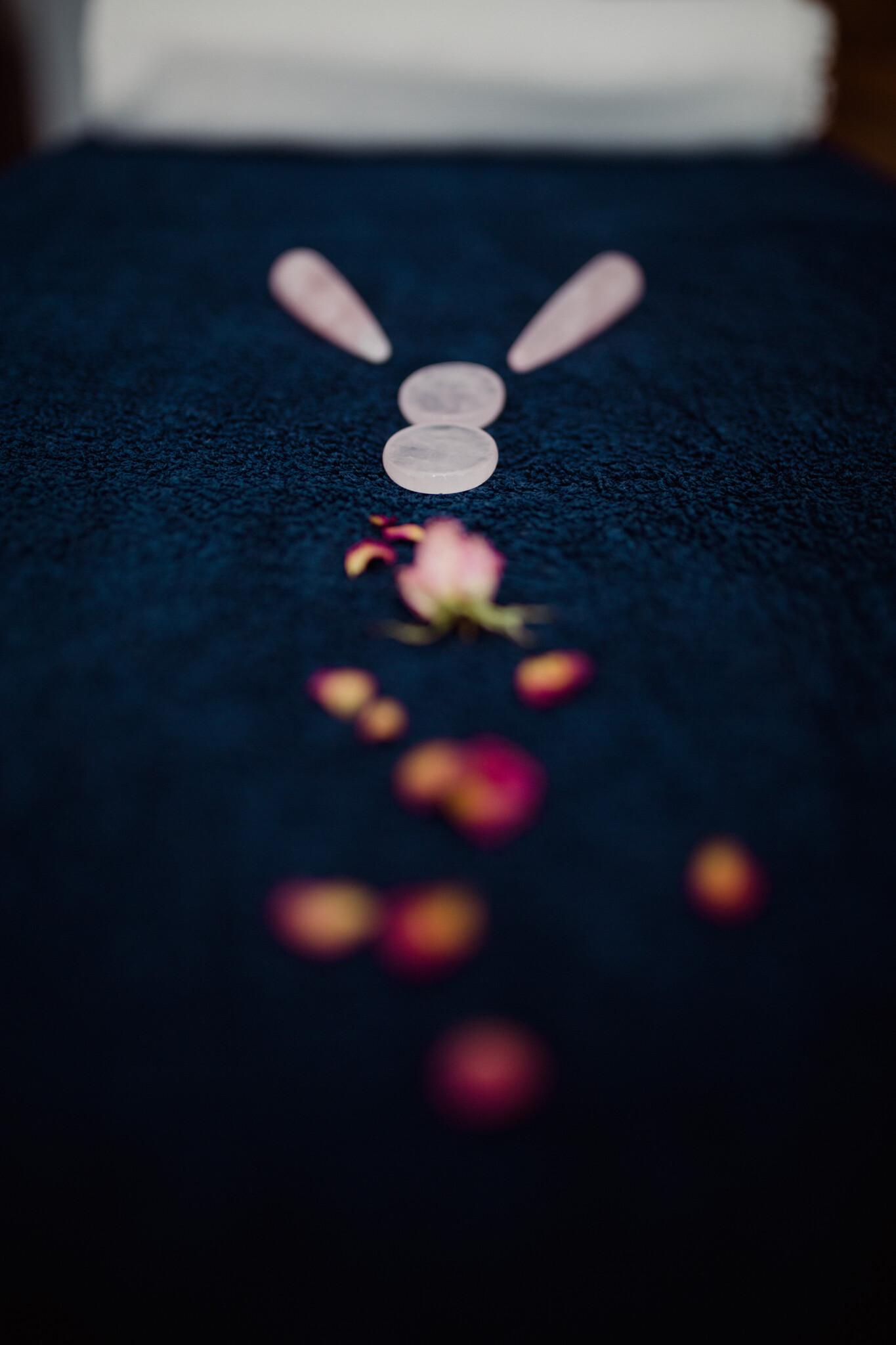 Massage quartz roses Mérignac Marutea